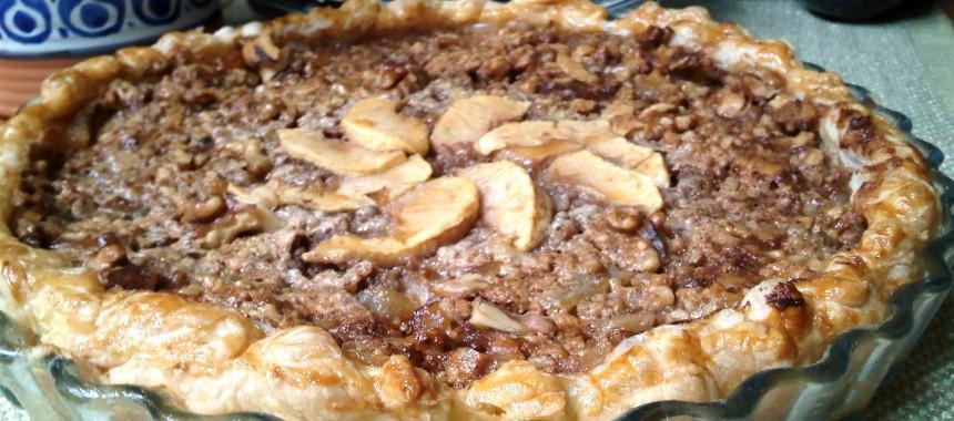 Tarta de Manzana con Crema de Nuez