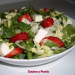 Ensalada de Espinaca con Fresa