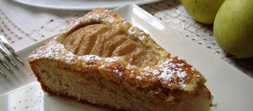 Tarta de Peras con Almendras – Súper Sencilla