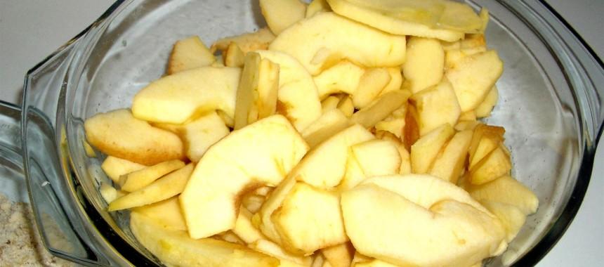Streusel de Manzana y Nuez