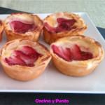 Pastelitos Vascos con Fresas