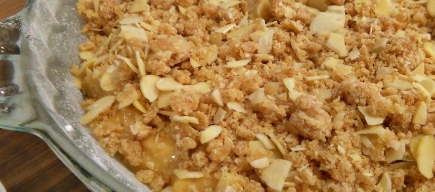 Tarta de Manzana con Crujiente de Almendra