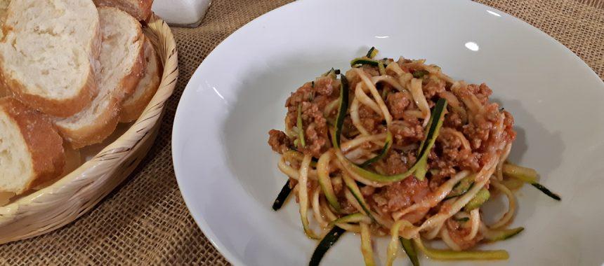 Espaguetis de Calabacín con Carne